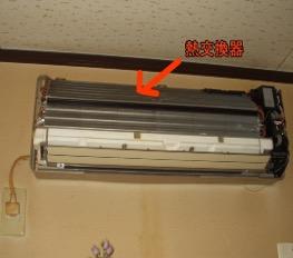 エアコンの内部の写真